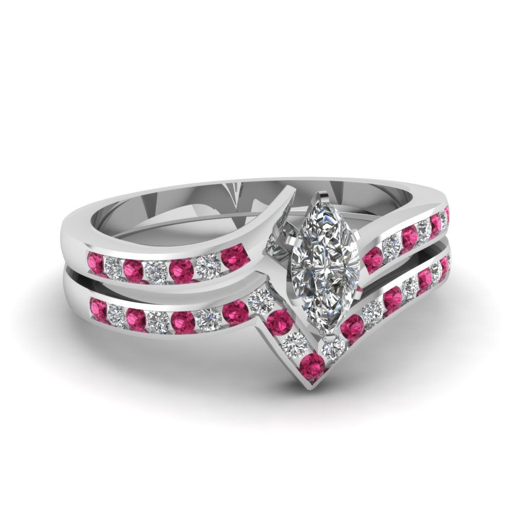 Handmade In USA Pink Sapphire Engagement Rings | Fascinating Diamonds