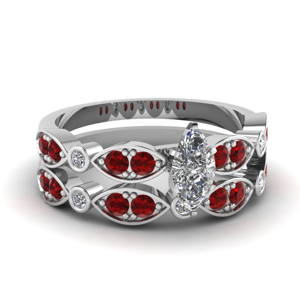 white-gold-marquise-white-diamond-engagement-wedding-ring-with-red-ruby-in-pave-bezel-set-FDENS2035MQGRUDR-NL-WG