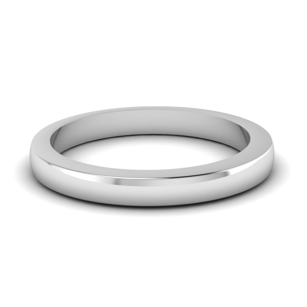 classic plain wedding band in FD1029B NL WG