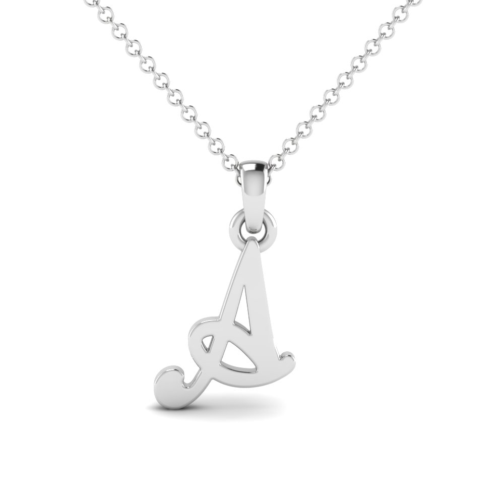 Monogram Script Fancy Pendant