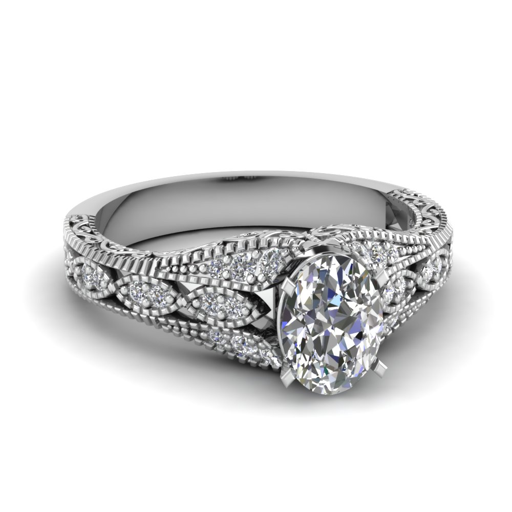c7306c3d7435df ... antique filigree oval shaped diamond engagement ring in FD1066OVR NL WG .jpg
