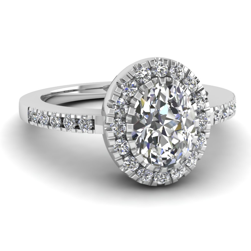 Discounted Oval Halo Engagement Rings | Fascinating Diamonds