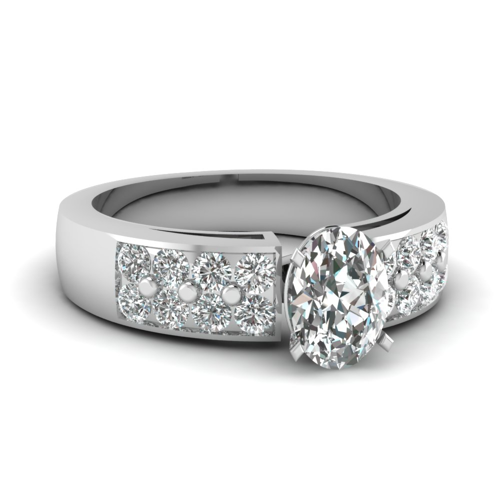 Big Oval Shaped Diamond Ring