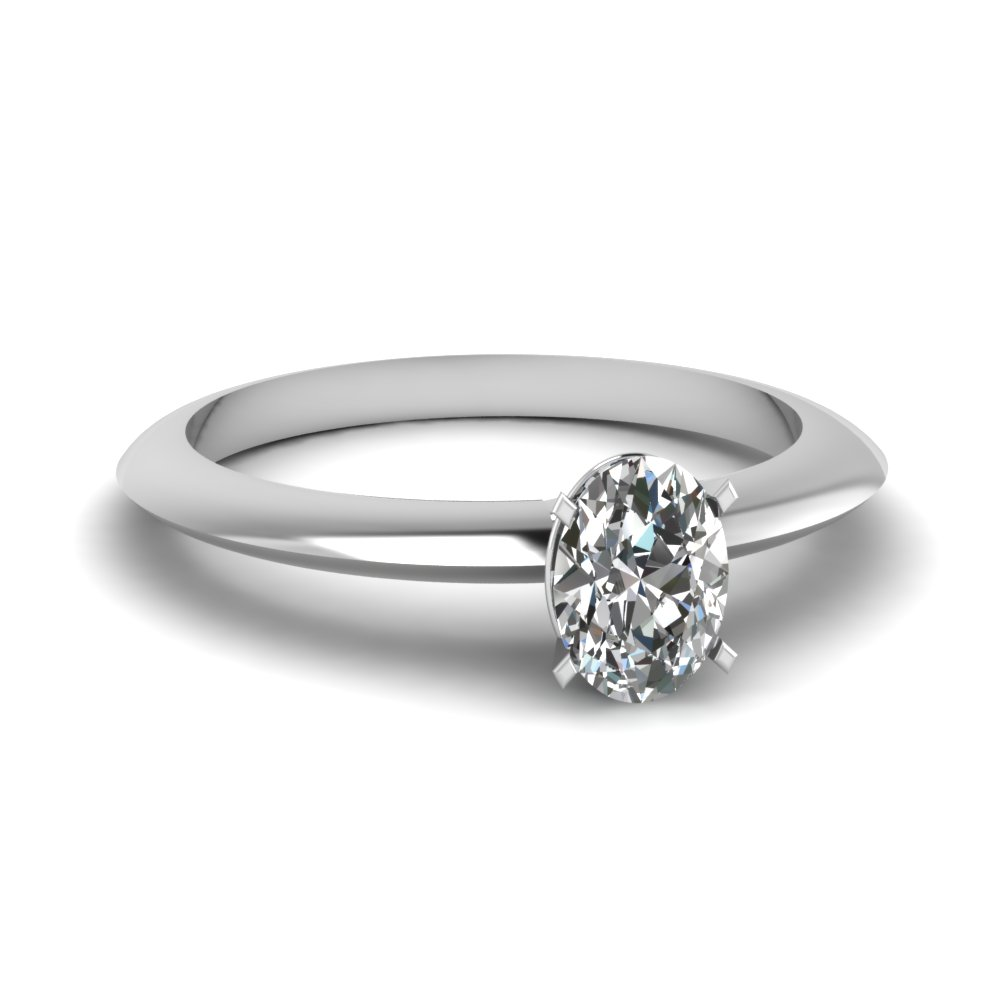 knife edge oval diamond solitaire engagement ring in fdenr1283ovr nl wg - Clearance Wedding Rings