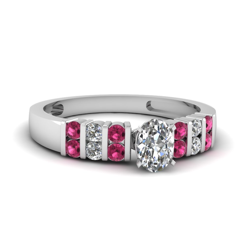 Stunning Pink Sapphire Engagement Ring