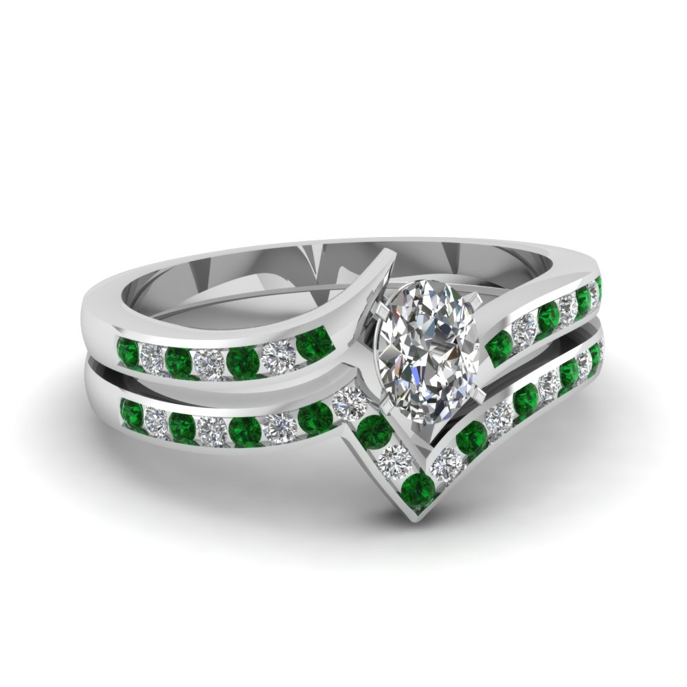 Beautiful Emerald Bridal Set