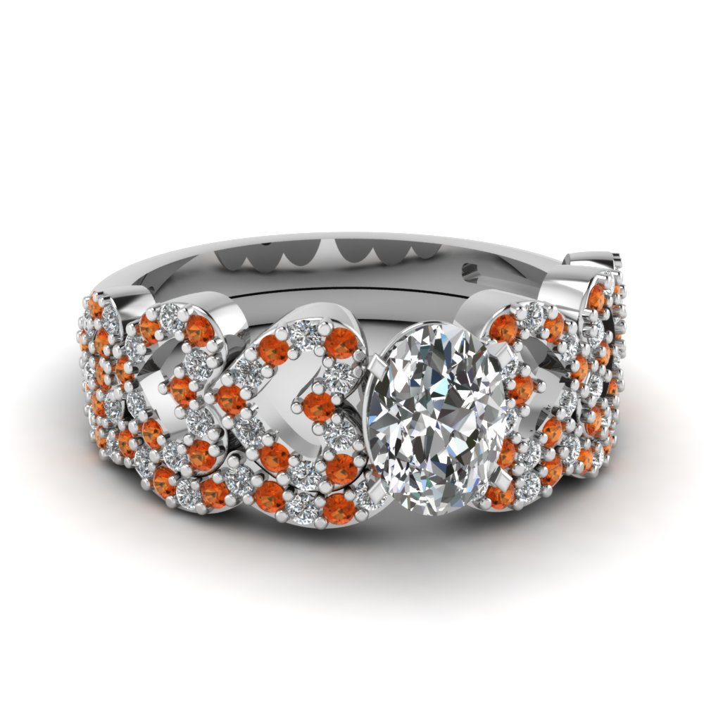 oval shaped heart design linked diamond wedding set with orange sapphire in FDENS3051OVGSAOR NL WG.jpg