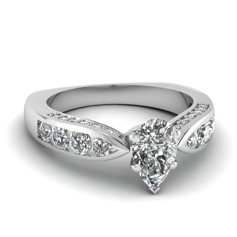 Channel Pave Set Engagement Ring