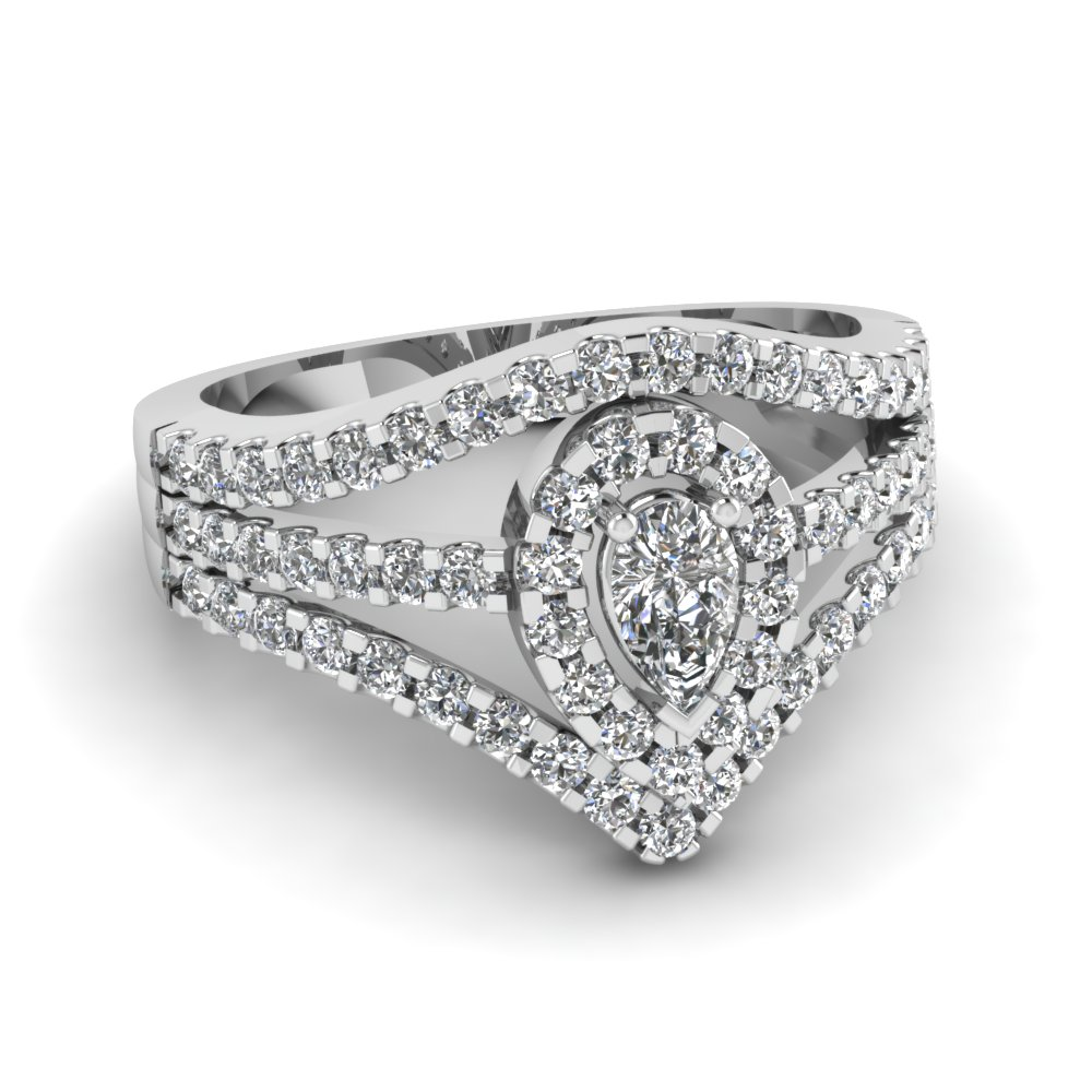 1 Carat Pear Shaped Diamond Ring For Her