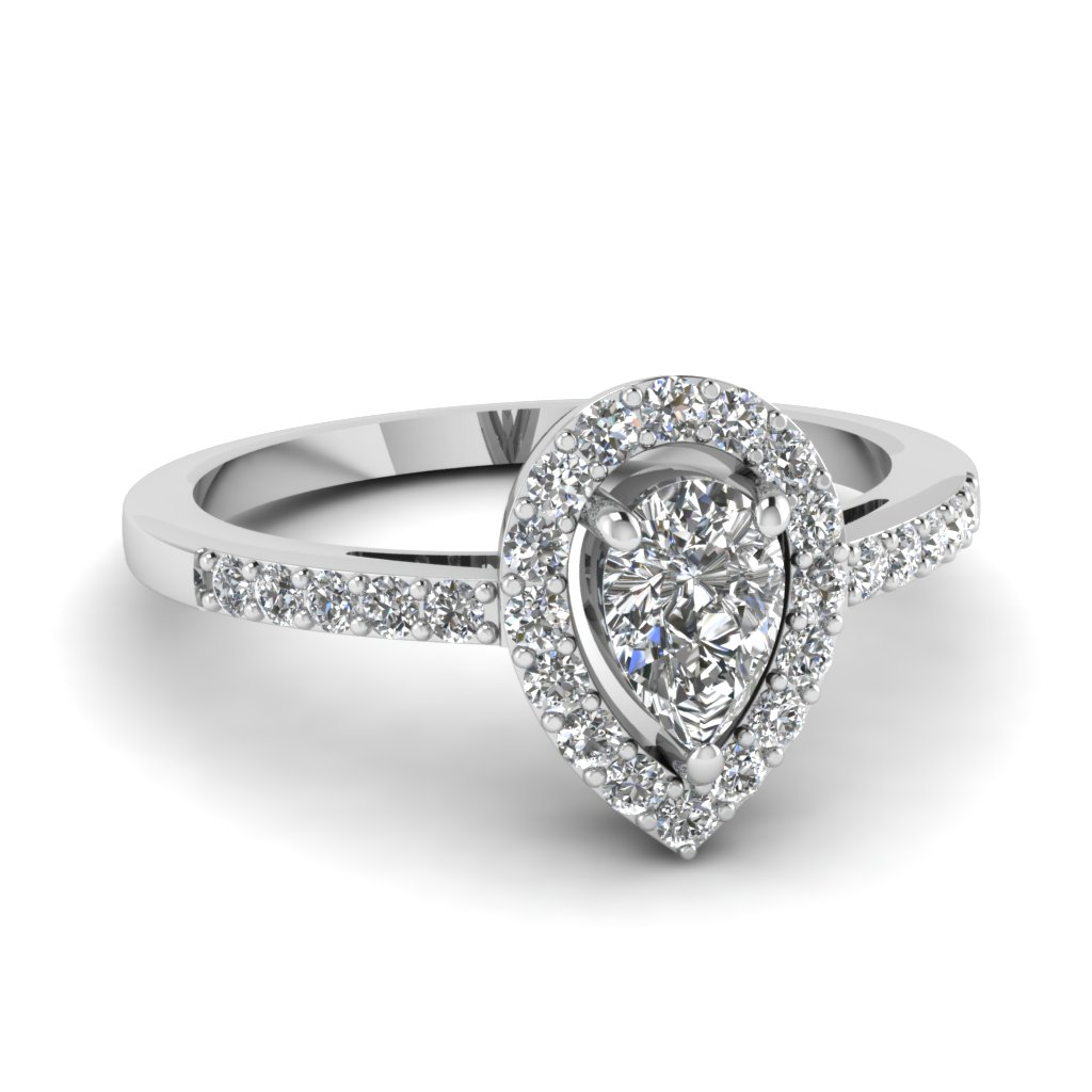 Popular Pear Diamond Wedding Rings