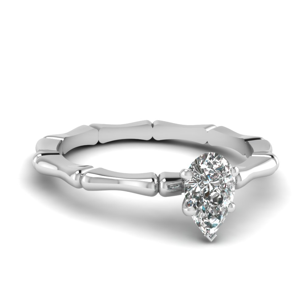 bone design pear diamond solitaire engagement ring in FDENS1823PER NL WG.jpg