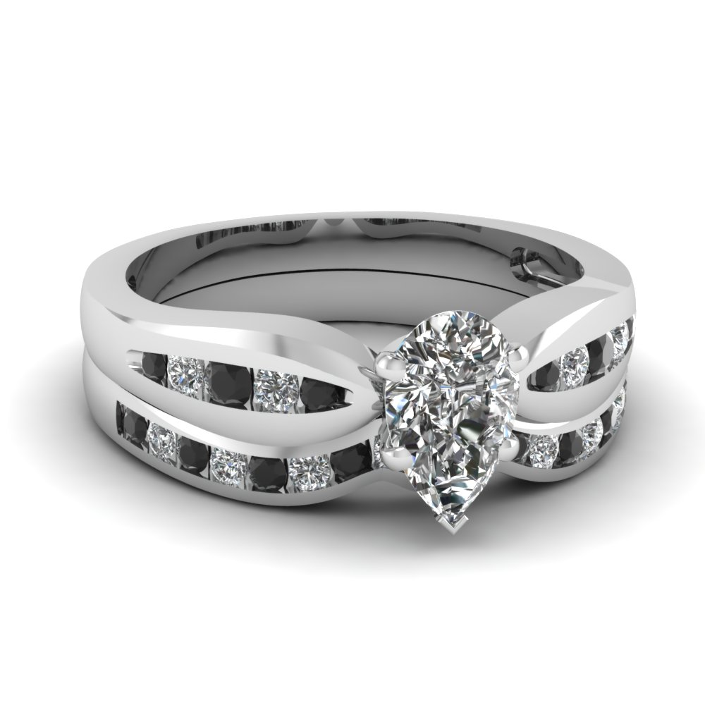 Black Diamond Platinum Wedding Set