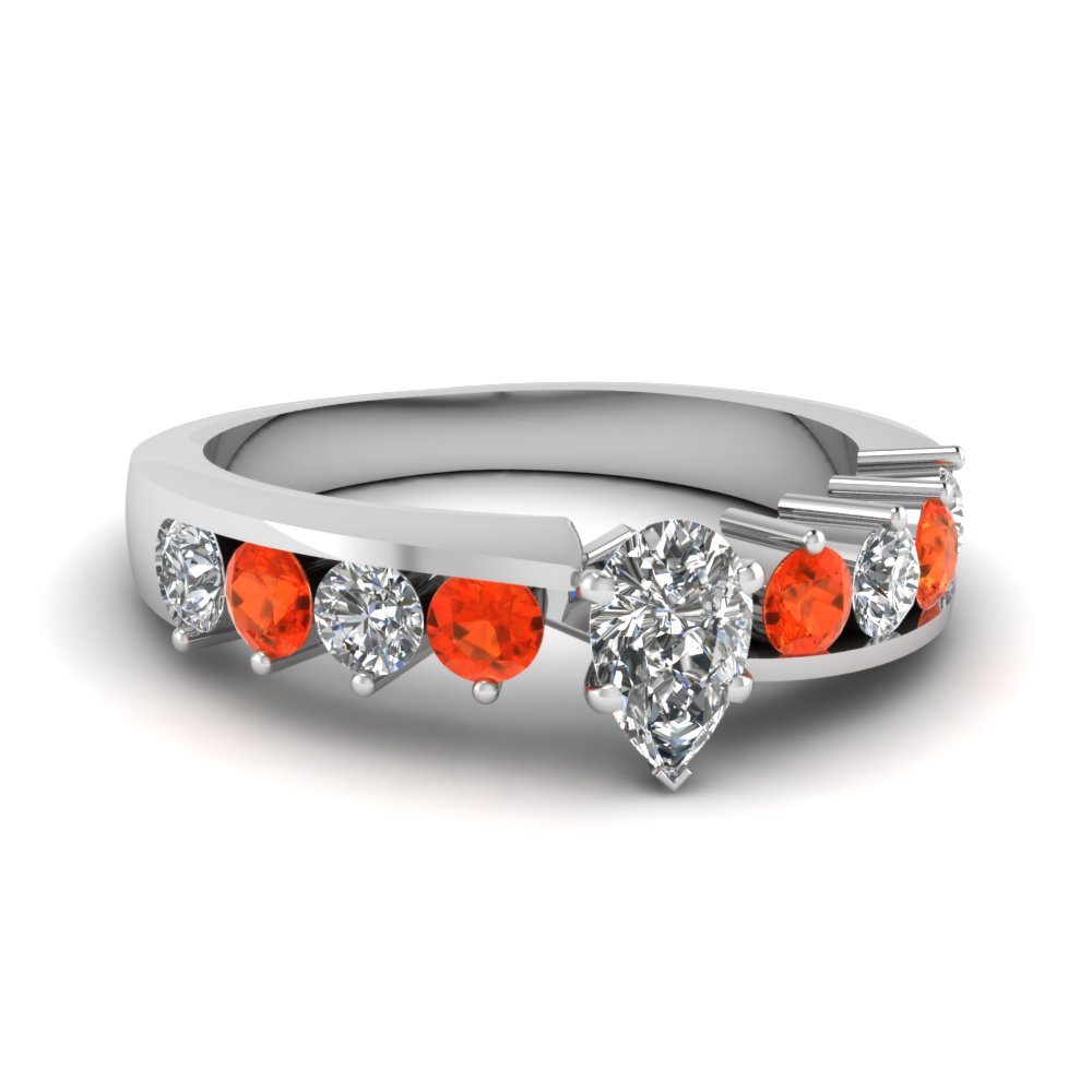 Browse Our Orange Topaz Petite Engagement Rings | Fascinating Diamonds