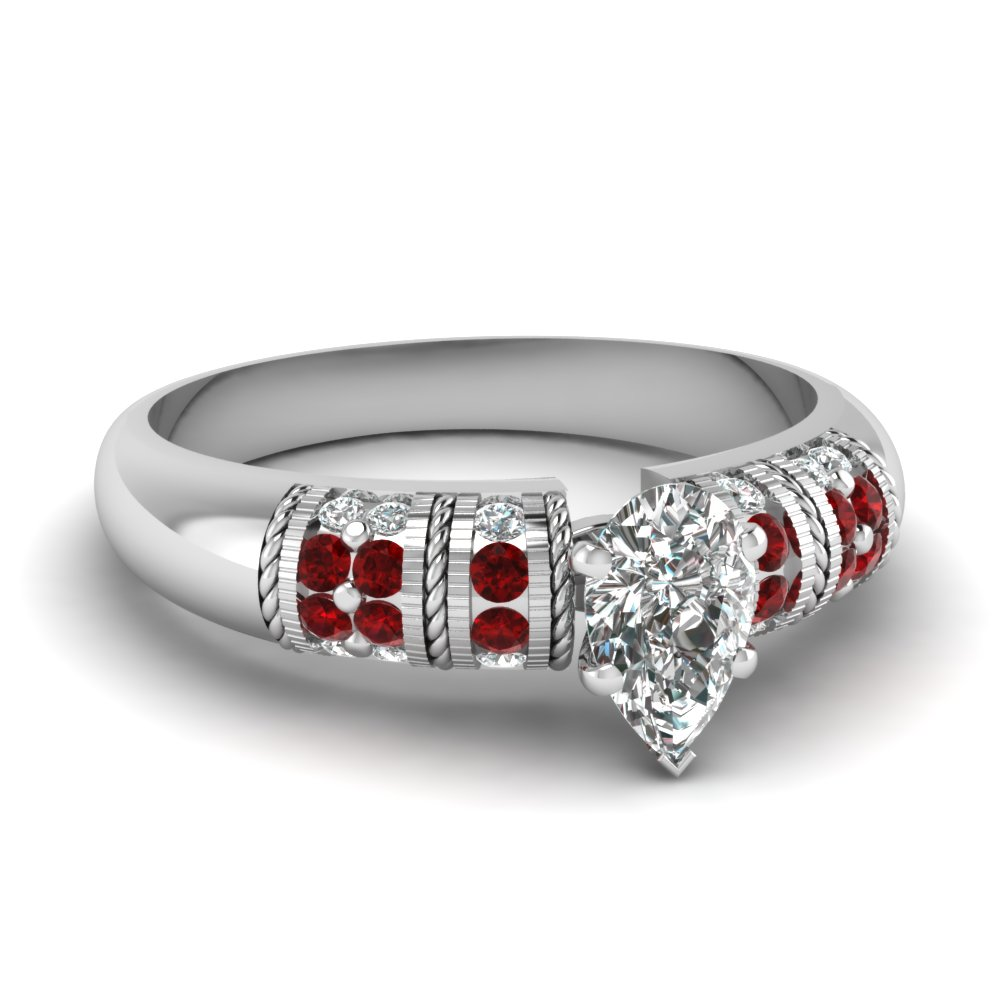white-gold-pear-white-diamond-engagement-wedding-ring-with-red-ruby-in-channel-pave-set-FD62252PERGRUDR-NL-WG