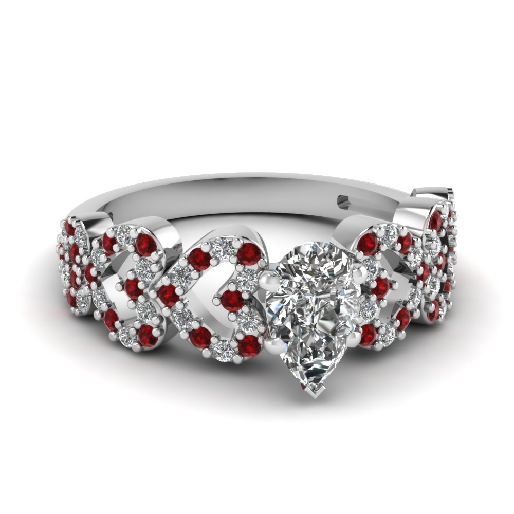 heart design linked pear shaped diamond engagement ring with ruby in FDENS3051PERGRUDR NL WG.jpg