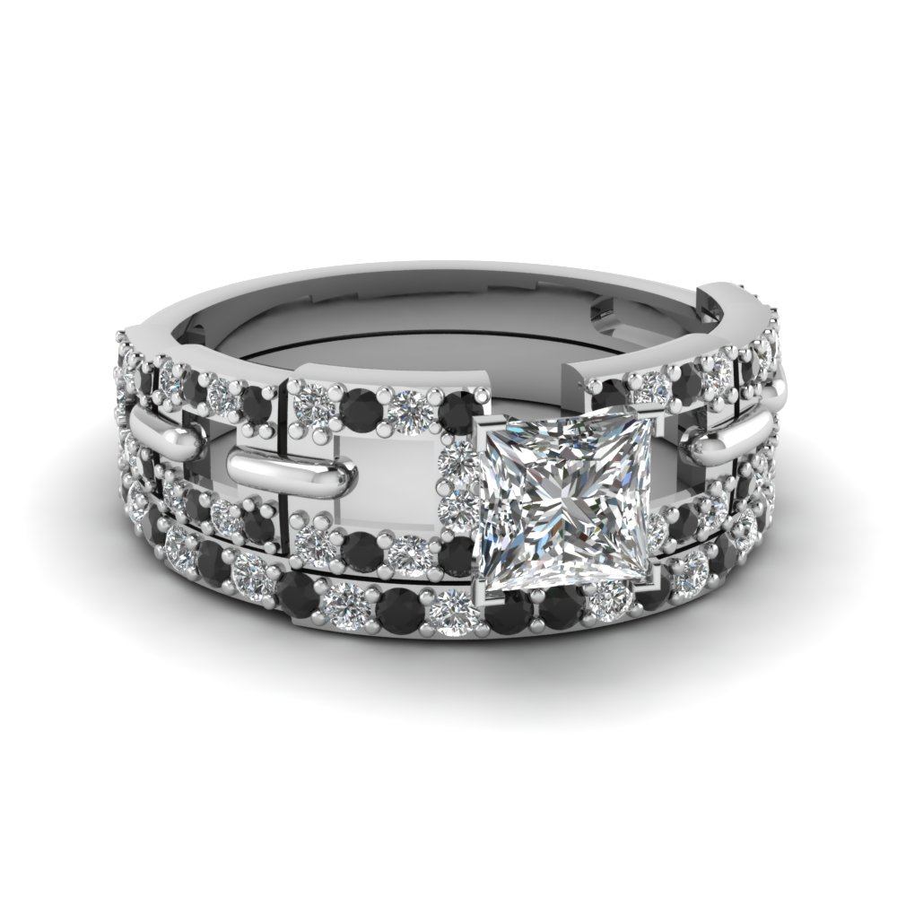 white-gold-princess-white-diamond-engagement-bridal-ring-with-black-diamond-in-pave-set-FDENS3005PRGBLACK-NL-WG