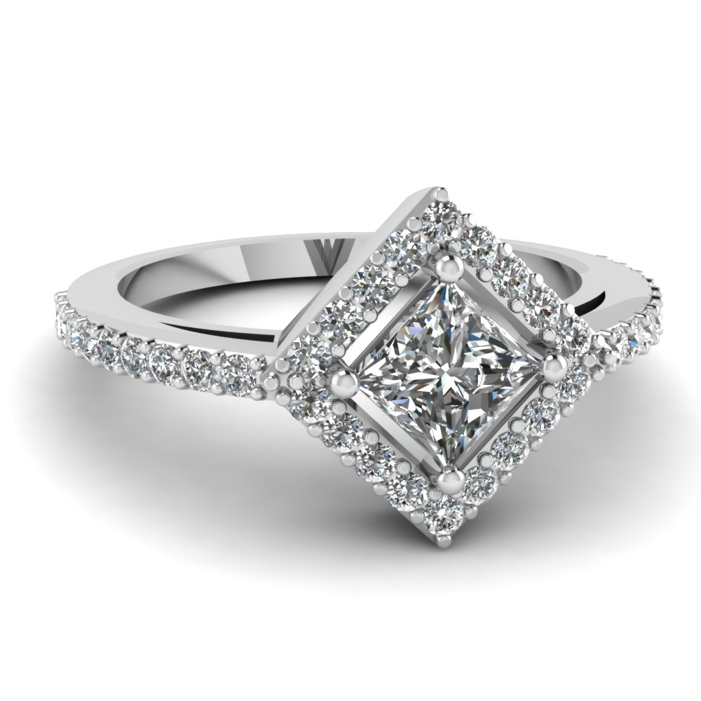 Classic Princess Cut Diamond Engagement Rings