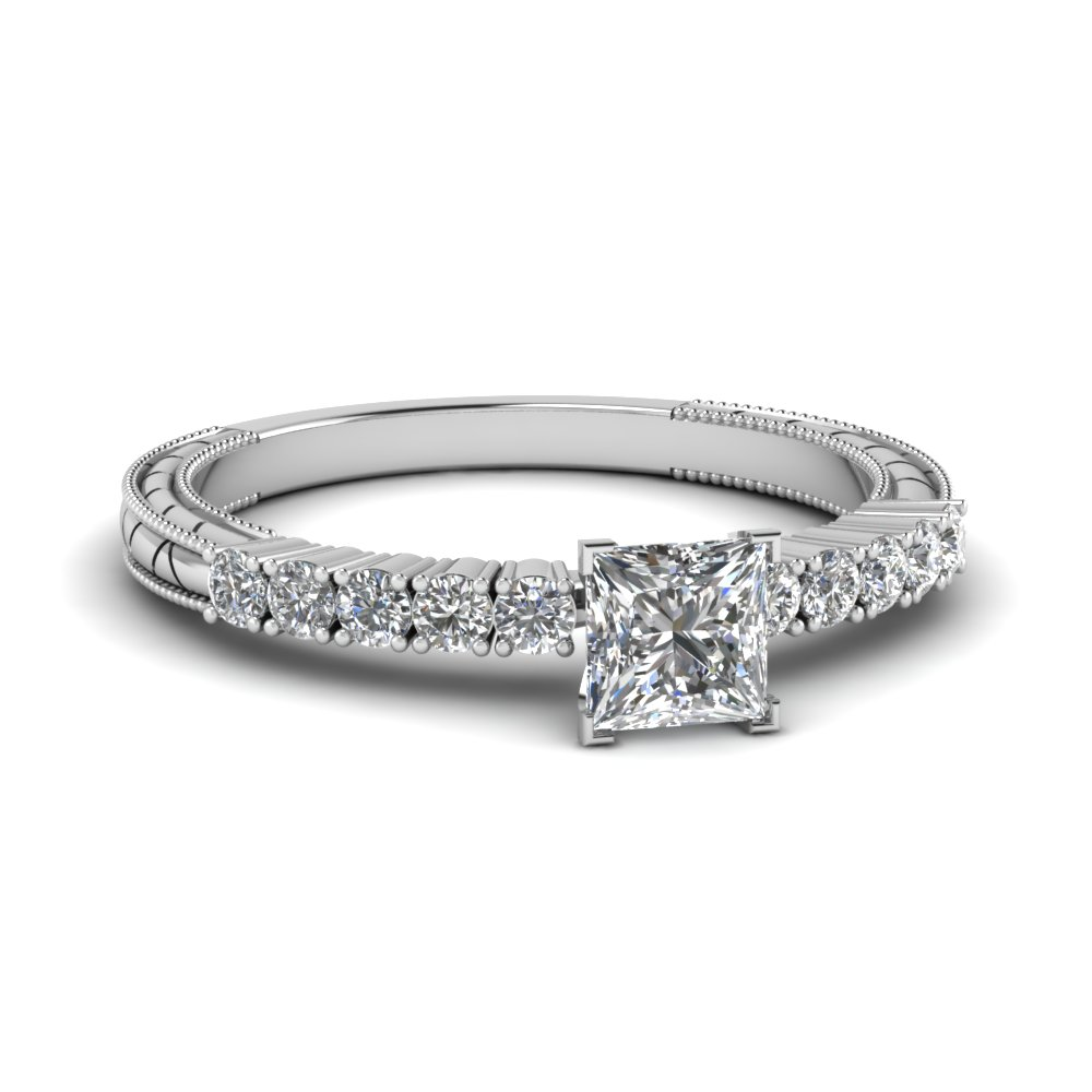 products rings engagement stone ring round cttw cut i princess diamond h white gold wedding