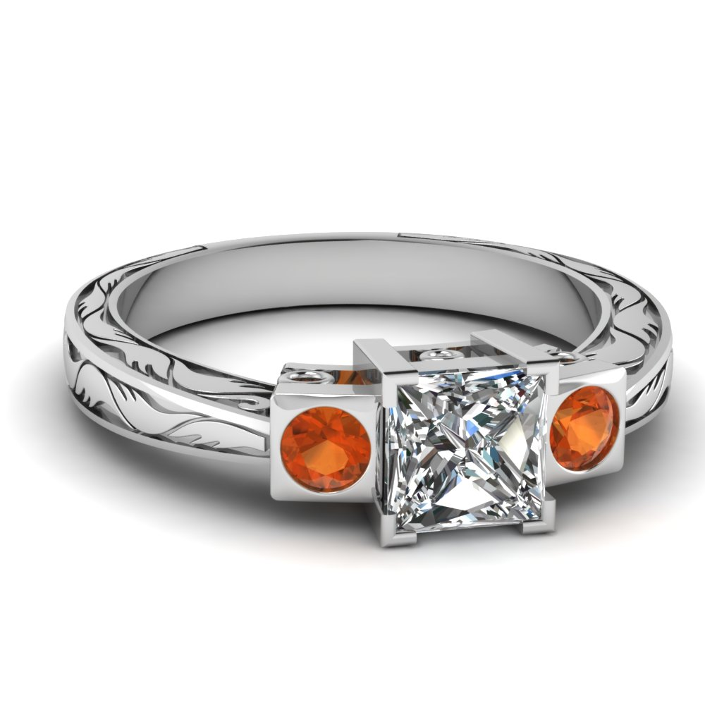white-gold-princess-white-diamond-engagement-wedding-ring-orange-sapphire-in-bezel-set-FDENR2836PRRGSAOR-NL-WG