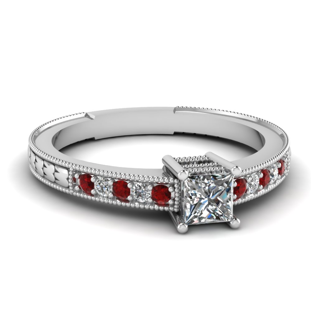 Shop For Red Ruby Vintage Engagement Rings
