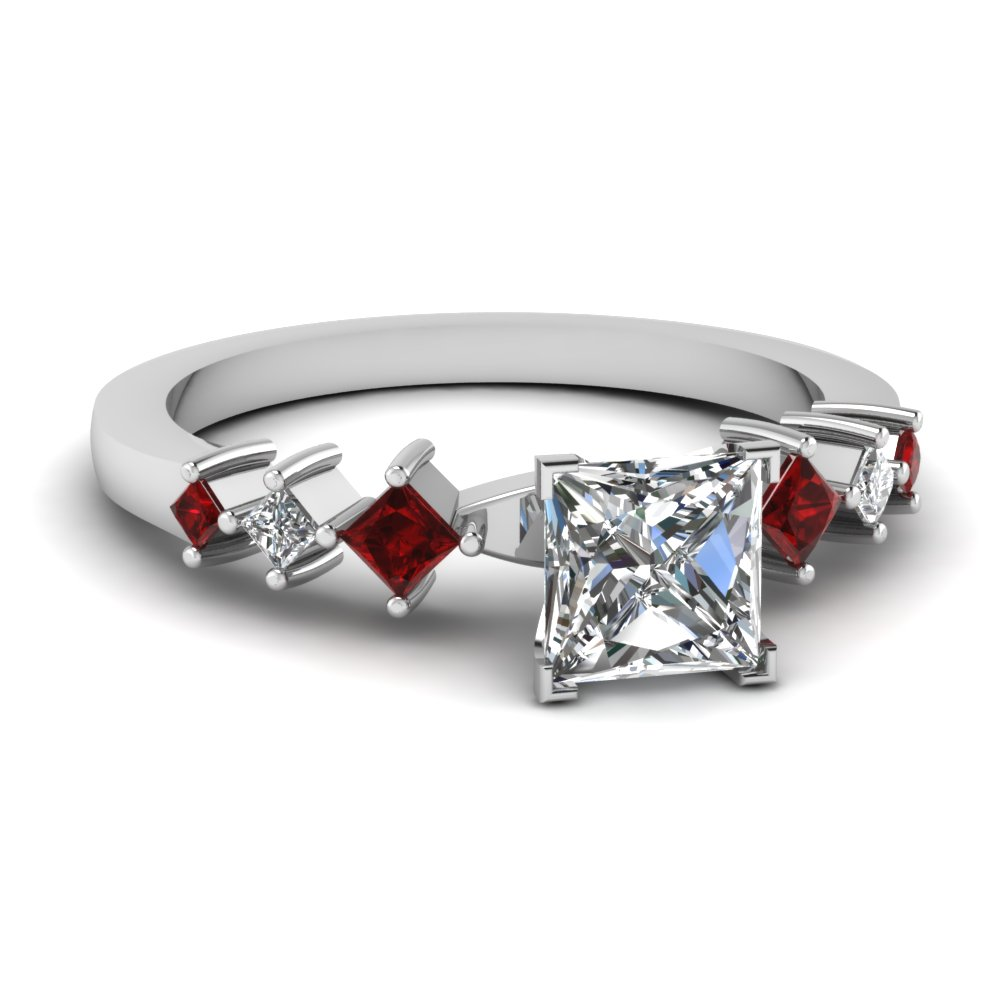 Ruby Kite Platinum Petite Ring