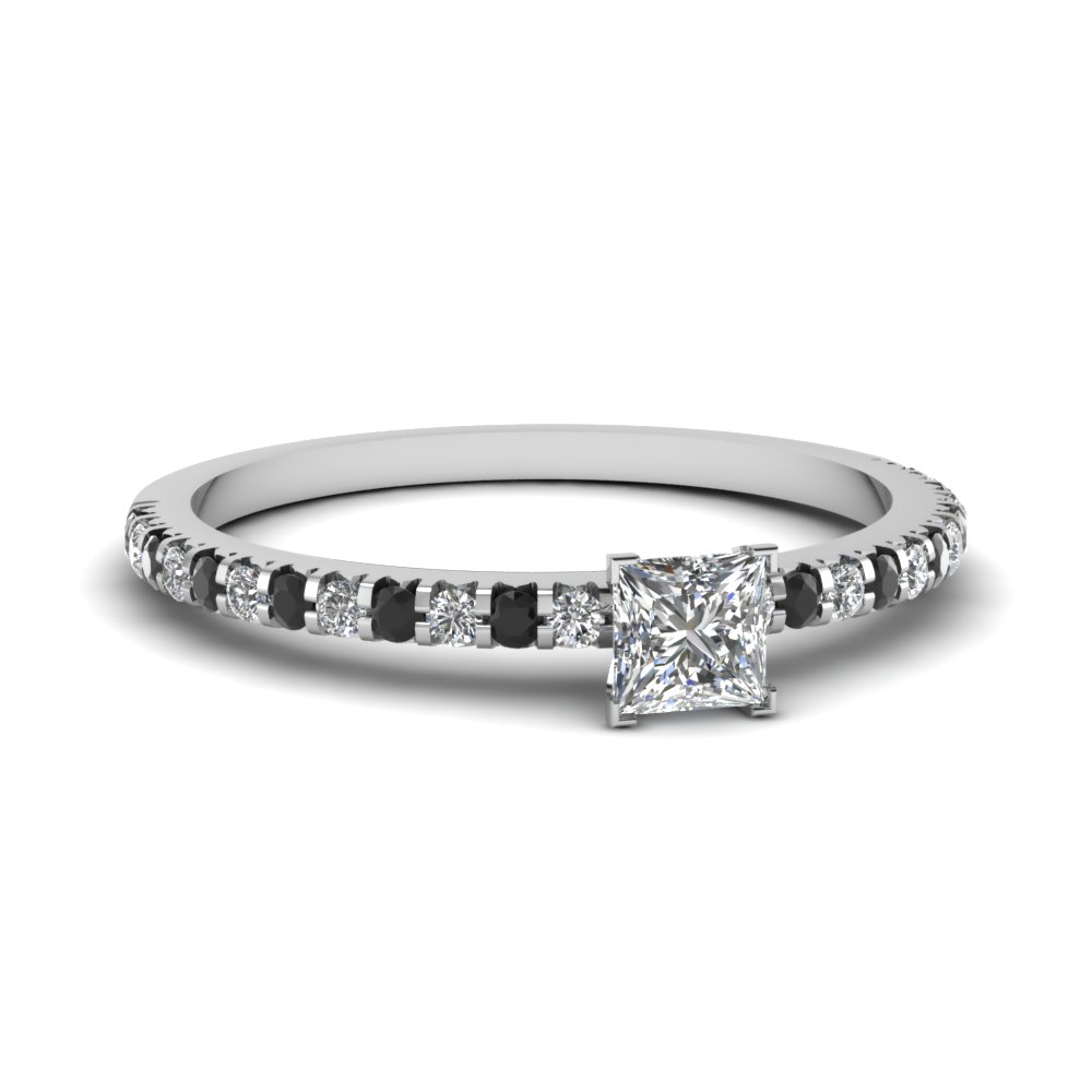 Floating Petite Diamond Engagement Ring