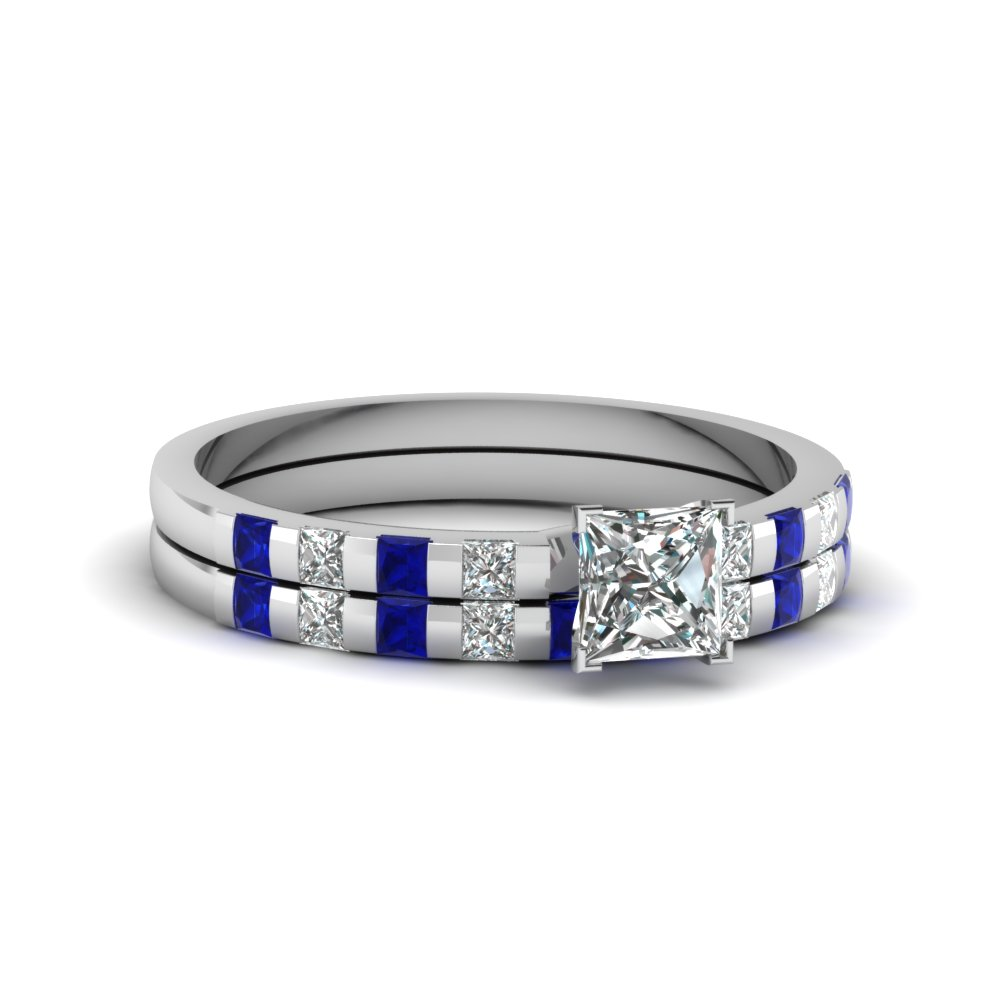 Delicate Bar Diamond Wedding Set
