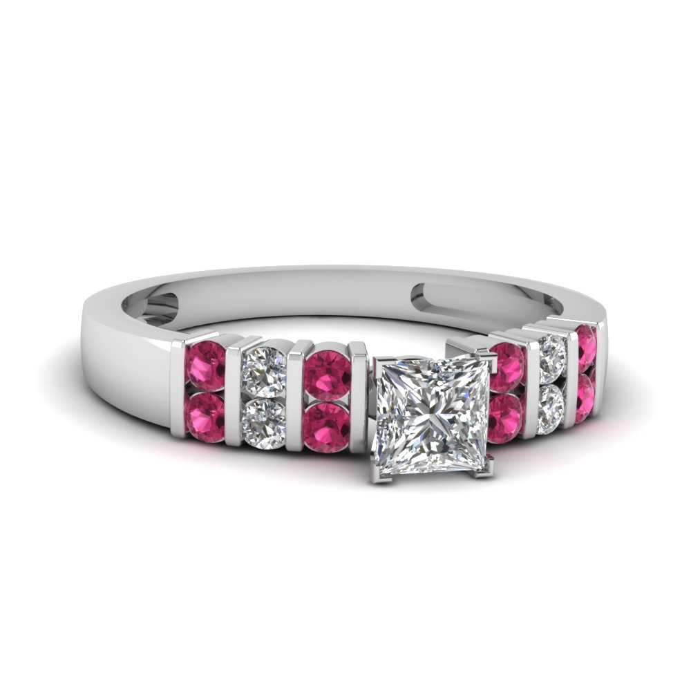 Pink Sapphire Wedding Rings