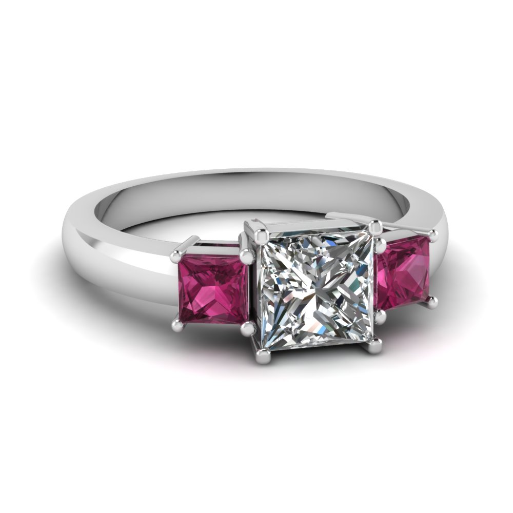 pink white and p ring wedding context diamond rings sapphire large gold