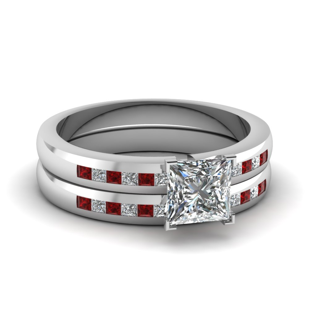 Latest Designs Of Ruby Wedding Ring Sets