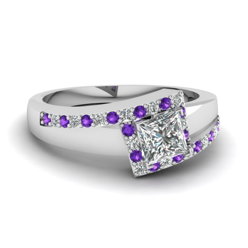 crossover princess cut halo diamond engagement ring with violet topaz in FDENS3166PRRGVITO NL WG.jpg