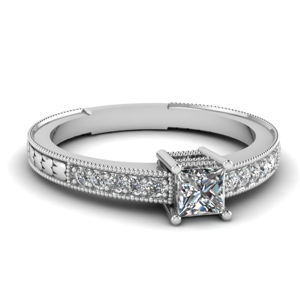 exclusive princess cut vintage engagement rings | fascinating diamonds