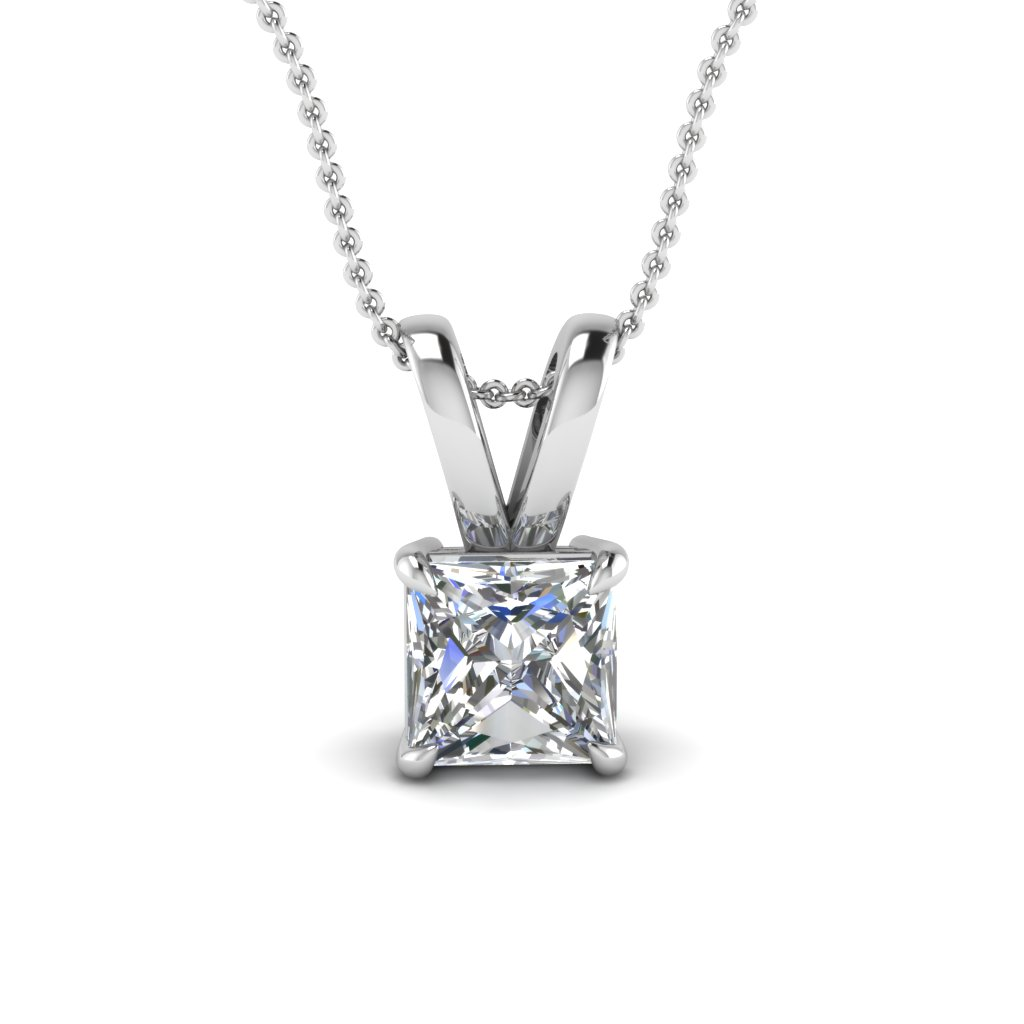 white-gold-princess-white-diamond-solitaire-pendant-in-prong-set-FDPD4PR-NL-WG