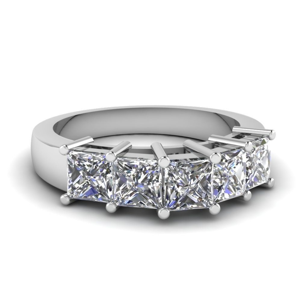 carat bands with wg white eternity jewelry princess wedding diamond cut platinum band in nl