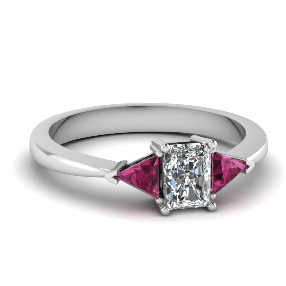 Tapered Trillion Engagement Ring
