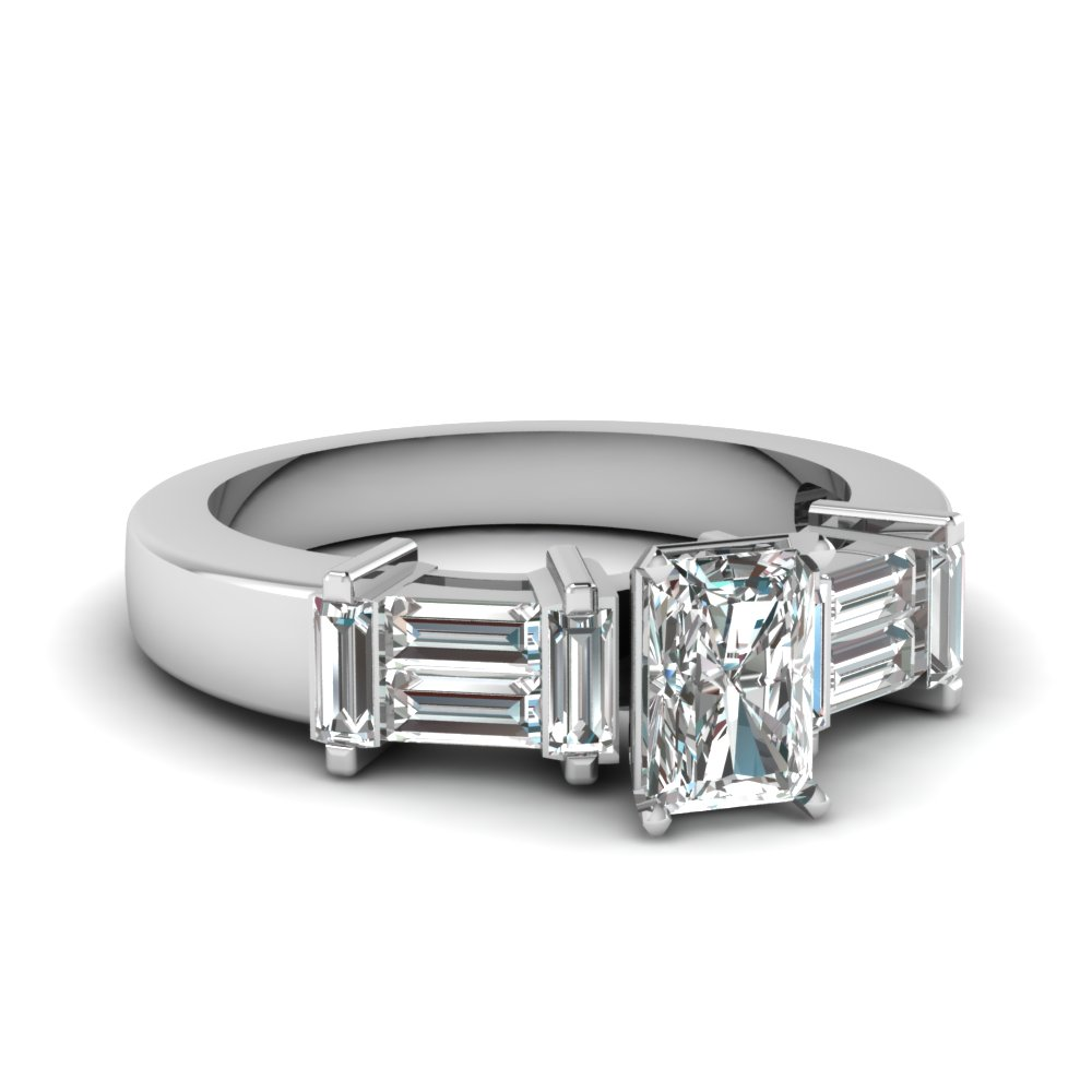 1 Ct. Radiant Cut Women Diamond Ring