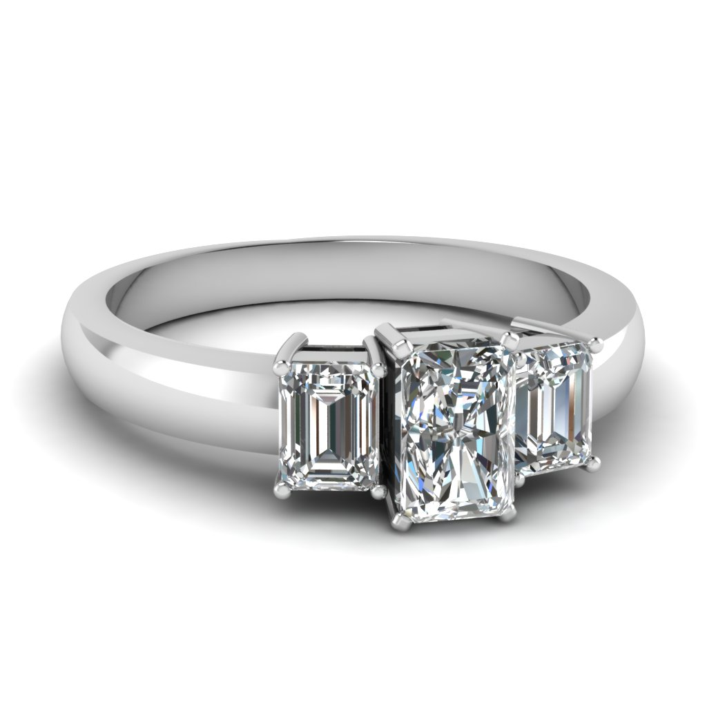 Platinum Diamond Ring 3 Stone