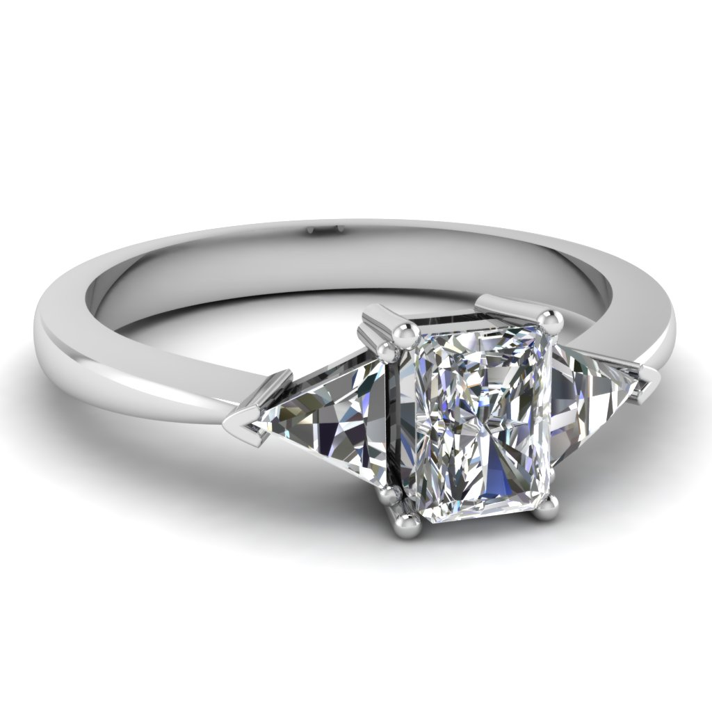 ring carat diamond cut rings engagement product trillion platinum raton boca