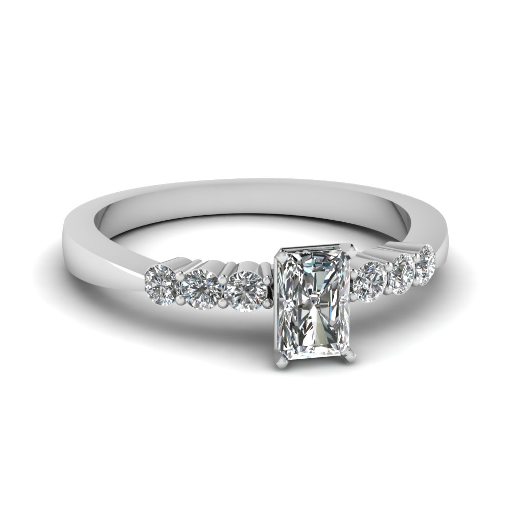Radiant Cut 1/2 Carat Diamond Rings