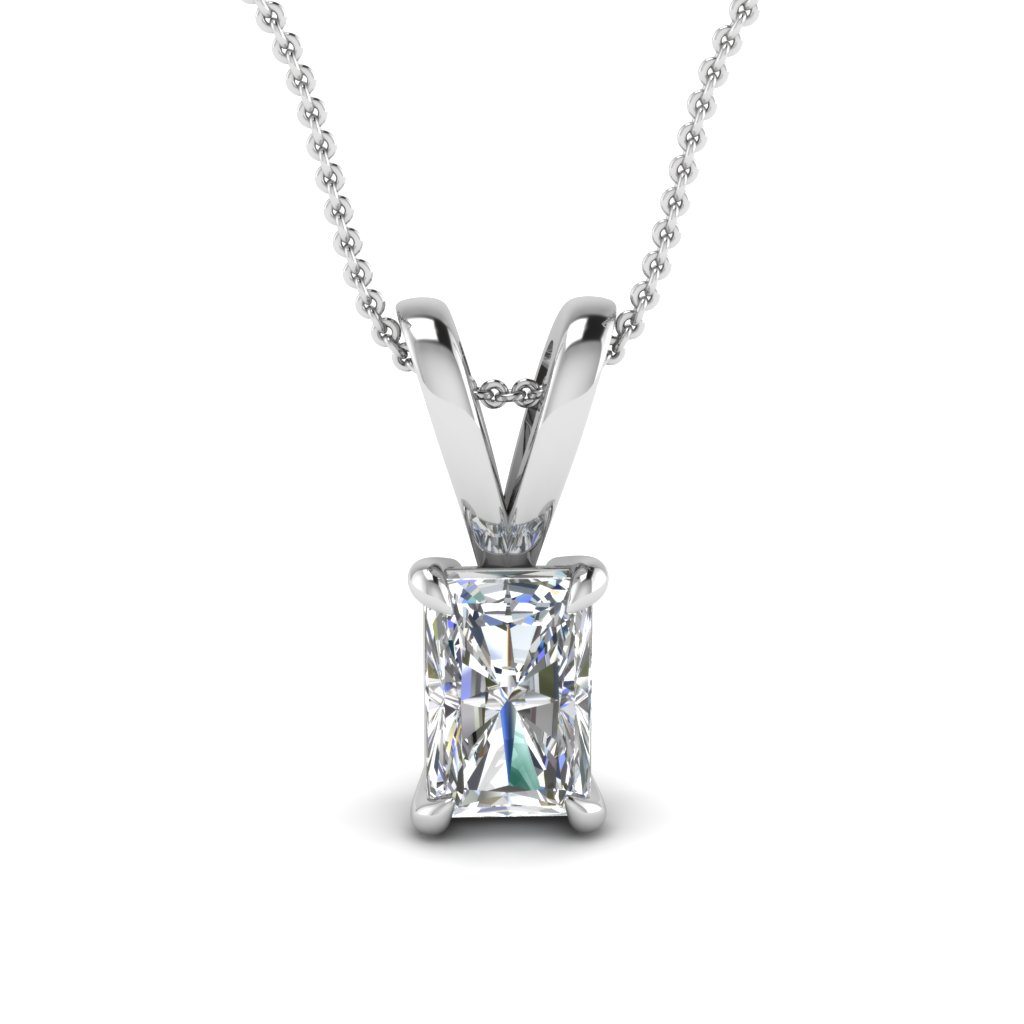 white-gold-radiant-white-diamond-solitaire-pendant-in-prong-set-FDPD4RA-NL-WG