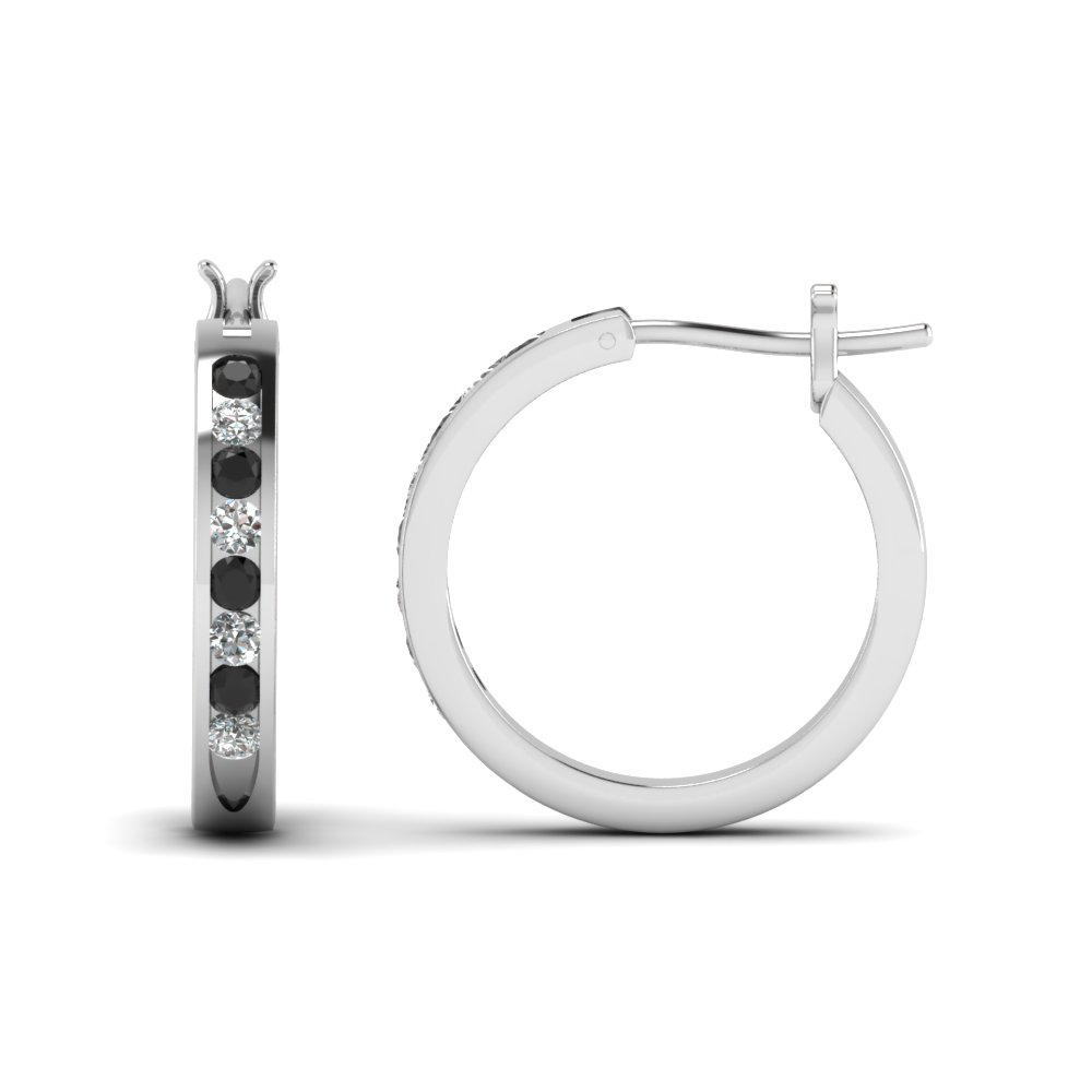 Half Carat Diamond Small Hoop Earring