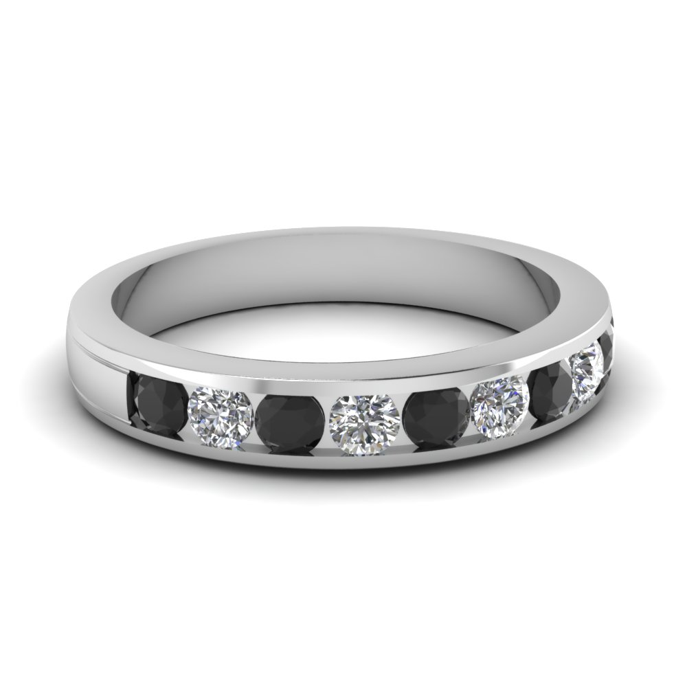 Buy Womens Wedding Bands With Black Diamonds Online | Fascinating Diamonds
