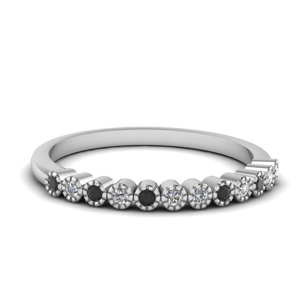 Womens Bezel Set Wedding Band