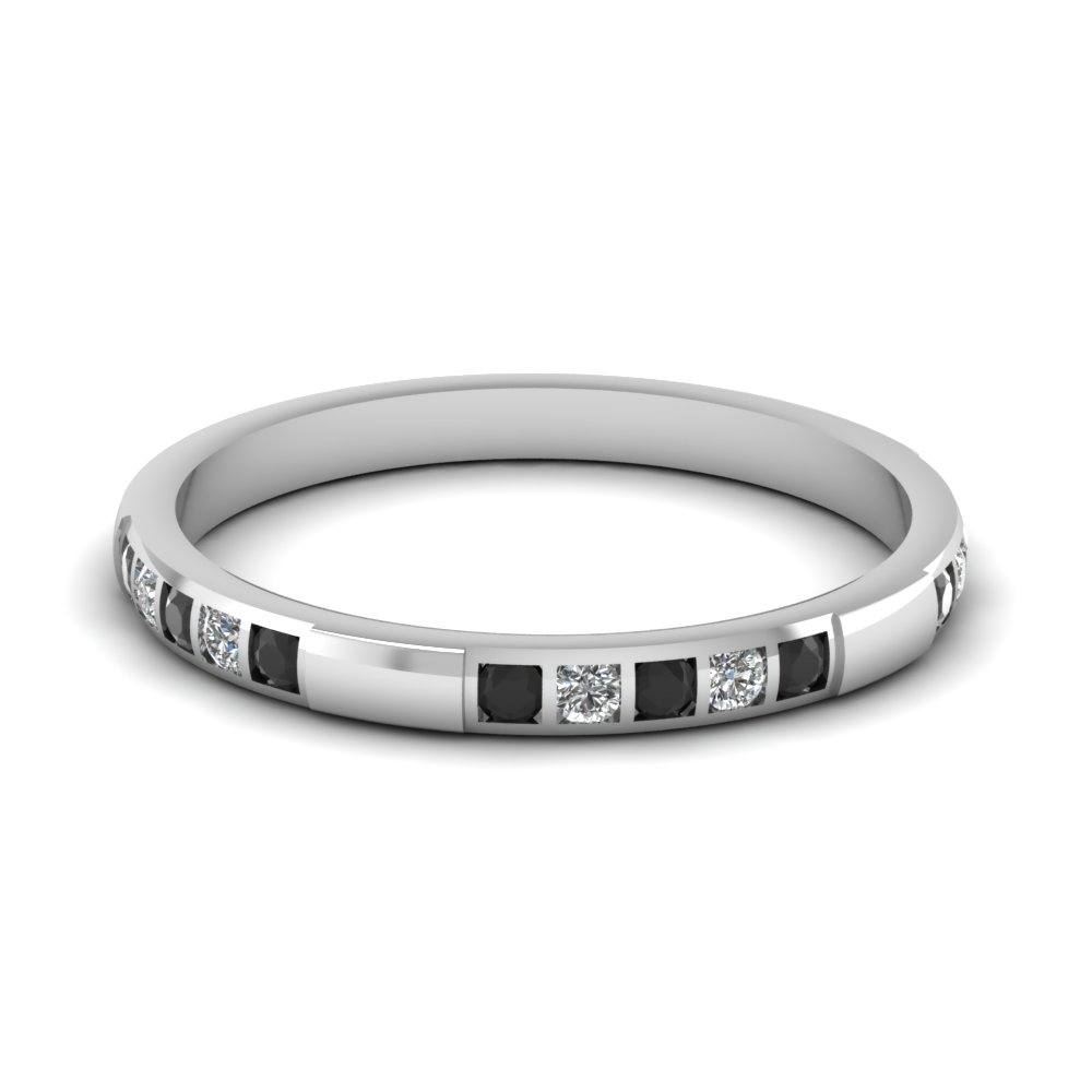 Bar Diamond Stackable Wedding Band