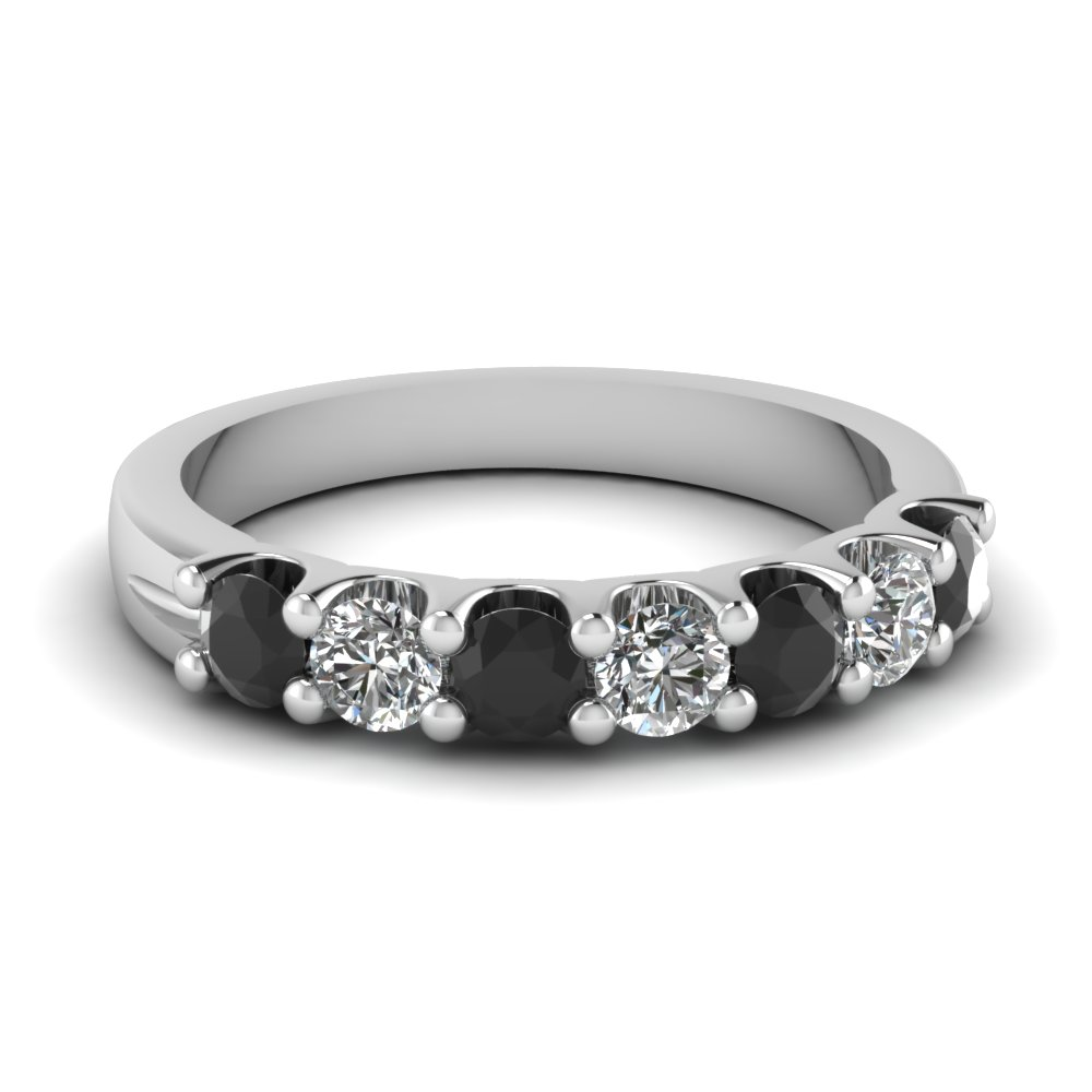 black diamond 7 stone round anniversary band in FDWB5200BGBLACK NL WG