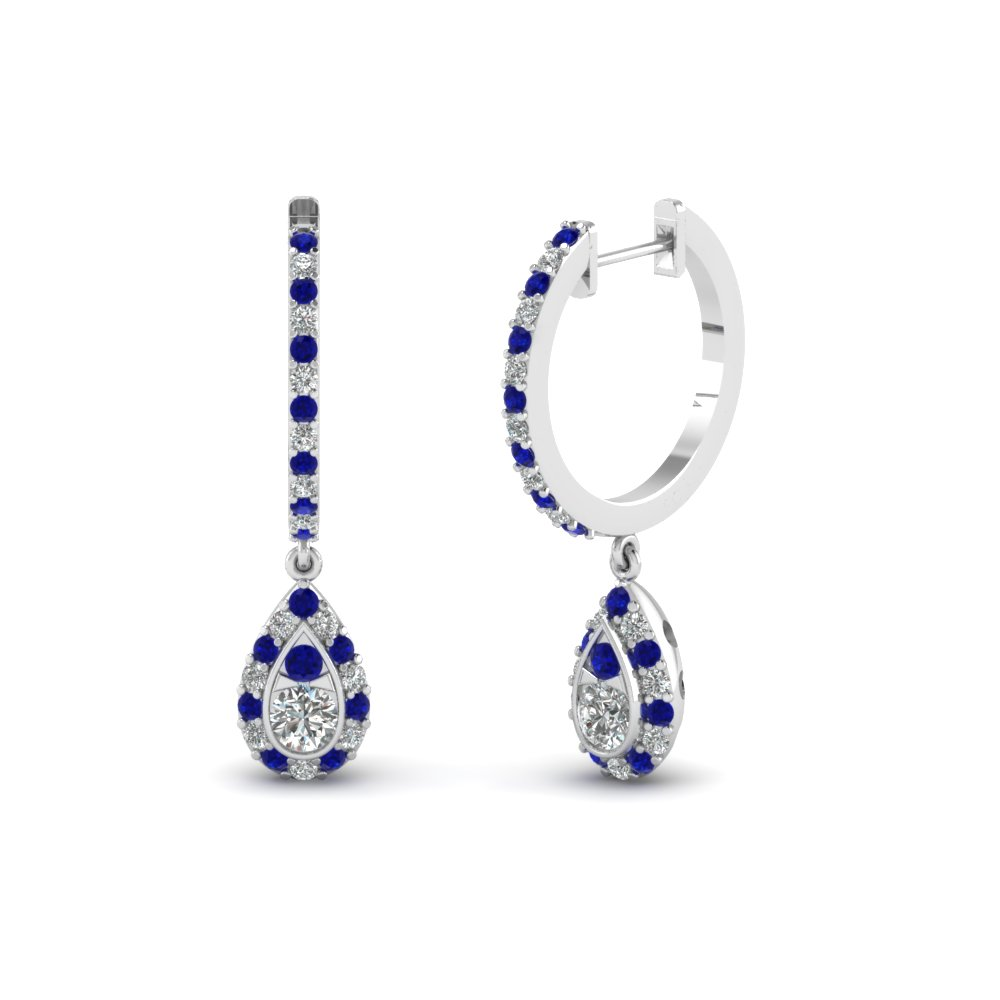 Pick Classy Blue Sapphire Earrings Online| Fascinating Diamonds