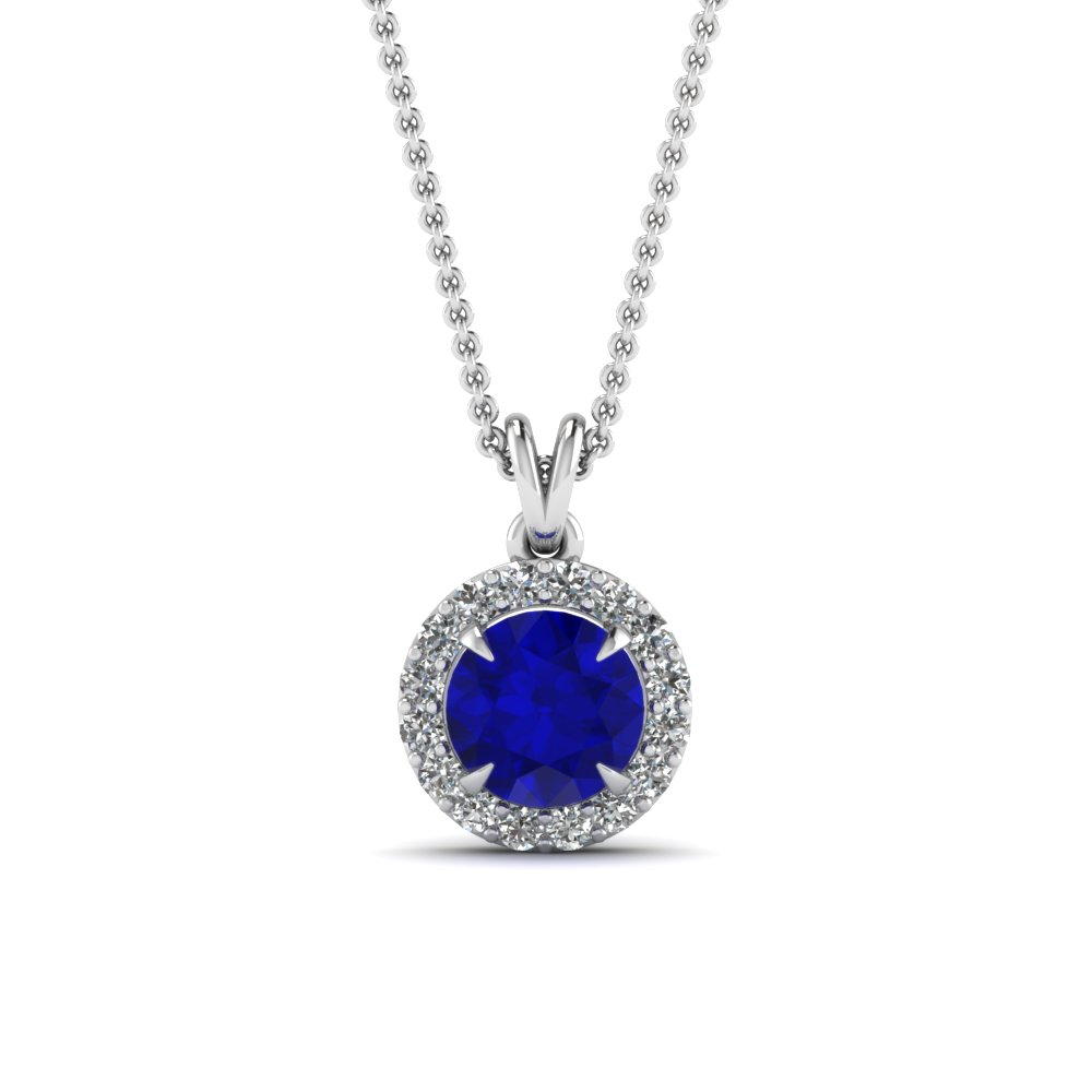 Sapphire Necklaces With Diamonds