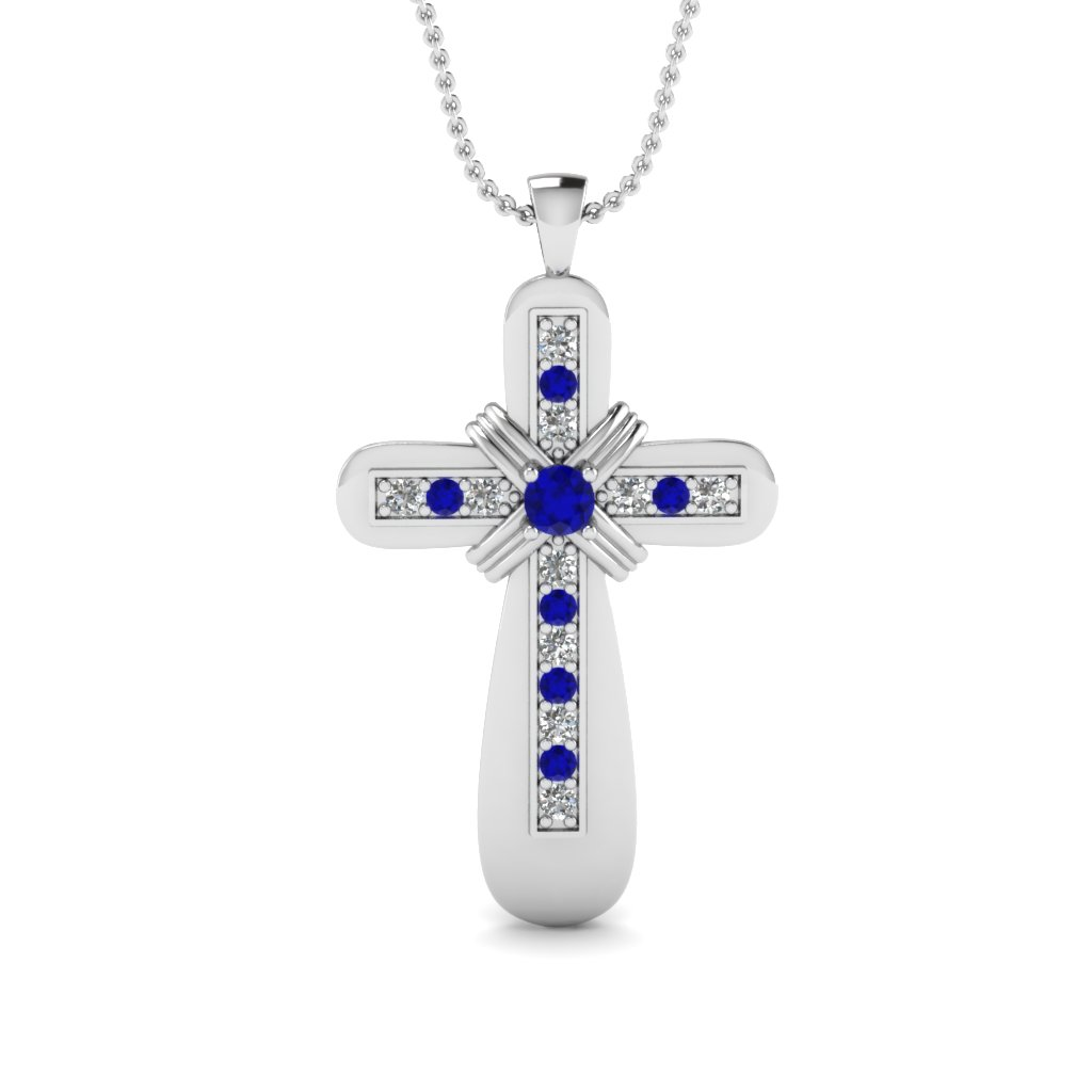 white-gold-round-blue-sapphire-religious-pendant-with-white-diamond-in-pave-set-FDRPD277GSABL-NL-WG