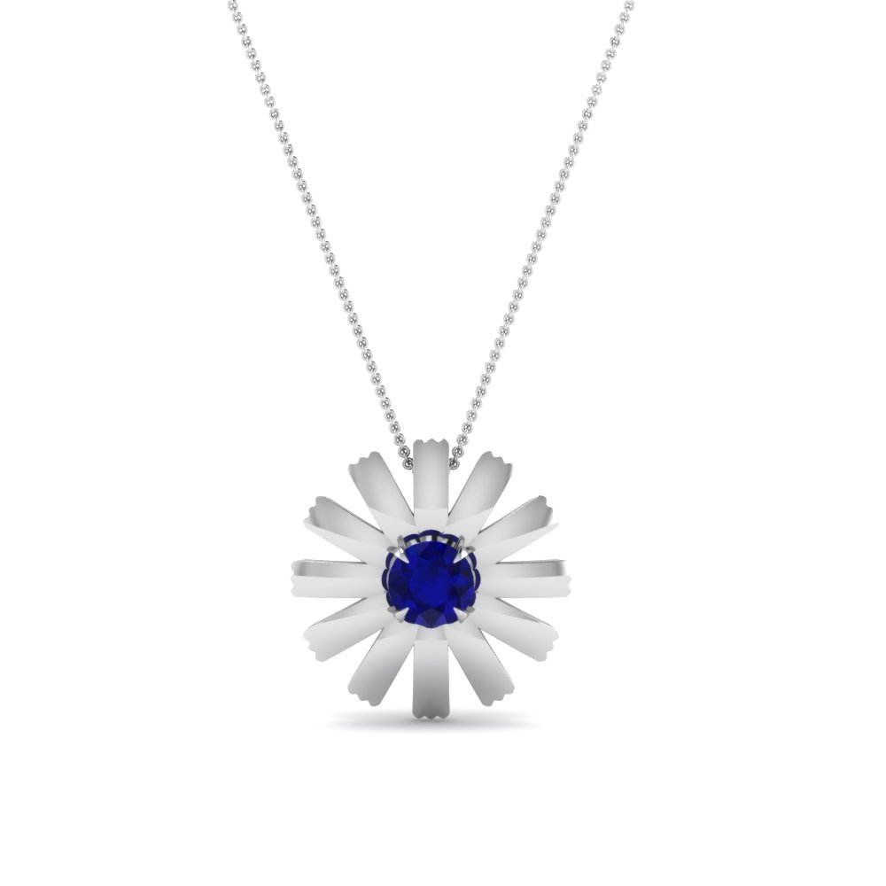 beautiful pendant for women with sapphire in FDPD1089GSABL NL WG