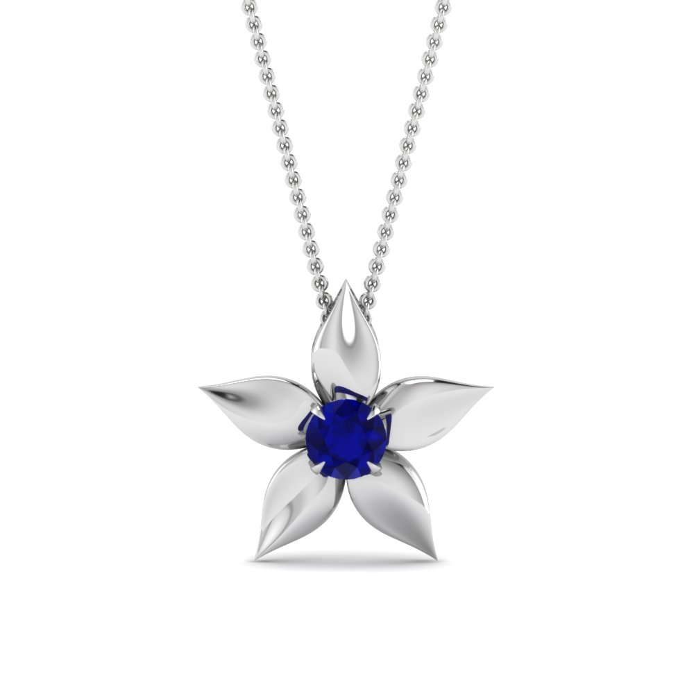 white-gold-round-blue-sapphire-solitaire-pendant-in-prong-set-FDPD1091GSABL-NL-WG